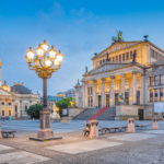 Berlin Gendarmenmarkt square at dusk, Germany