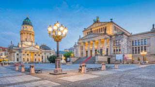 Berlin Gendarmenmarkt square at dusk, Germany