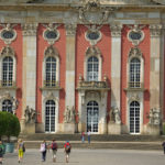 Potsdam, ornements baroques du Neues Palais, Allemagne