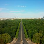 Berlin in the summer from the top